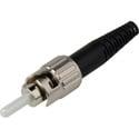 Senko 215-201-L2 Premium 127um MultiMode ST Fiber Connector with Black 3mm Boot