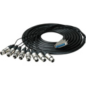 Sescom 25MA-XF-M05 Audio Snake Cable Mogami Analog 25-Pin D-Sub Male to 8 XLR Female w/ 18in. Fanouts - 5 Foot