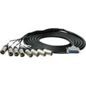 Sescom 25MA-XM-M15 Audio Snake Cable Mogami Analog 25-Pin D-Sub Male to 8 XLR Male with 24 inch Fanouts - 15 Foot