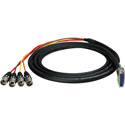 Sescom 25MD-4XM-YG25 Audio Cable Gepco 25-Pin D-Sub Male to 4 XLR Male w/ 24in. Fanouts Yamaha - 25 Foot