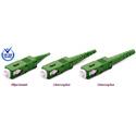 Premium SC/APC Conical Pre-Angle 125um 3mm Mini Boot Green