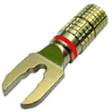 Gold Plated Spade for .25in Max Cable Red Band