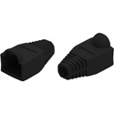 CAT5 Snagless Round Boot for For 8 Conductor RJ-45 Modular Plug (Black)