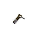 Switchcraft 35HDRANN Right Angle 3.5mm 3 Cond Plug with Nickel Handle and Plug