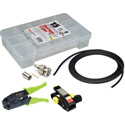 3G BNC Cable Making Kit with 20 Kings BNCs & 100 Foot Belden 1505A RG59 - Crimper & Stripper Included