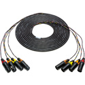 Sescom 4XLM-4XLF-25 Snake Cable 4-Channel XLR Male to XLR Female - 25 Foot