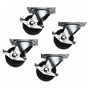 Middle Atlantic 5WL Commercial Grade Casters with 1300 lb Capacity