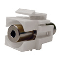 Calrad 72-310-WH 3.5mm Stereo Female to Female Recessed Keystone Jack White