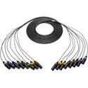 Sescom 8XLM-8XLF-10 Snake Cable 8-Channel XLR Male to XLR Female - 10 Foot