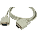 DB-9 Serial Male - Male Molded Cable 10ft Beige