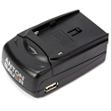 Anton Bauer 8475-0131 7.2V L-Series Single Position Battery Charger with 5V USB Output Port - US plug