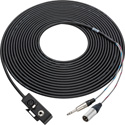 Sescom ABOOM50 Audio Cable ENG Duplex Boom Mic 2-Channel XLR and 1/4 inch TRS Male to Female on Belt - 50 Foot