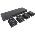 AVPro Edge AC-DA210-HDBT-KIT 2x10 Distribution Amplifier with HDBaseT and 8 Receivers