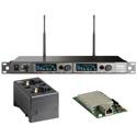MIPRO ACT-828 DANTE-5E-KIT Dante Dual Channel Dante Enabled Rack Mount Receiver w/ Charging Station 480-544 MHz - Li-Ion