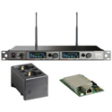 MIPRO ACT-828 DANTE-5F-KIT Dante Dual Channel Dante Enabled Rack Mount Receiver w/ Charging Station 540-604 MHz - Li-Ion