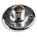 WindTech AD-12B Chrome 5/8 Inch -27 Male Flange with Base Holes on 1-1/4 Inch Centers