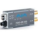 AJA FiDO-2R-12G 2-Channel Single-Mode LC Fiber to 12G-SDI Receiver