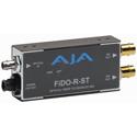 AJA FiDO-R-ST 1-Channel ST Fiber to SDI Converter w/Dual SDI Outputs