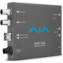 AJA HA5-12G-T HDMI 2.0 to 12G-SDI Mini-Converter with Single Channel Fiber 12G LC Transmitter