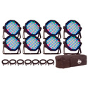 AMDJ Mega Flat Pak 8 -LED Par Pack With 8x Mega Par Lights