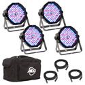 ADJ  Mega Flat Pak Plus -LED Par Pack With 4x Mega Par Lights
