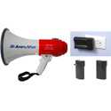 AmpliVox SB602R Mity-Meg 25 Watt Megaphone with Rechargeable Lithiumon Battery Bundle