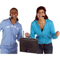 Amplivox Wireless Audio Portable Buddy Battery Powered Portable PA System