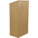 Amplivox W280-OK Full Height Wood Lectern - Oak