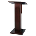 Amplivox W355MH Elite Solid Hard Wood Lectern Stand Without Sound (Mahogany)