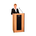 Amplivox Presidential Lectern Without Sound- Light Oak