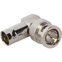 Amphenol 031-9-75-12G BNC Jack to BNC Plug Adapter - Right Angle - 12G Optimized - 75 Ohm - 25 Pack