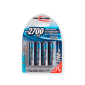 Ansmann 5030842 Mignon NIMH Rechargeable Battery AA 2700mAh - Pack of 4