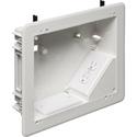 Arlington TVBU810 8 x 10 Inch TV Box Flat Screen AC Power and AV Low Voltage In-Wall Box