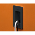 Arlington CE1BL Scoop 1-Gang Cable Entrance Plate Pass Through Black