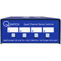 ARX QS-1 Quad Channel 4x1 or 1x4 Stereo Audio Switcher Q-Switch