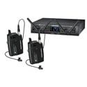 Audio-Technica ATW-1311/L System 10 Pro Rackmount Digital Wireless with 2 Bodypack TXs & 2 RXs & 2 Lav Mics