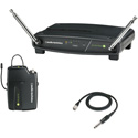 Audio-Technica ATW-901A-G System 9 VHF Wireless Unipak Mic System with AT-GcW Guitar Instrument Input Cable