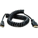 Atomos ATOMCAB009 Coiled Mini HDMI to Full HDMI Cable (50-65cm)