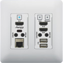 Aurora VLX-TCW2H-C 4K IP Audio/Video Distribution Wall Plate - White