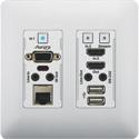 Aurora VLX-TCW2V-C 4K IP Audio/Video Distribution Wall Plate - White