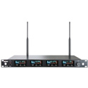 Avlex ACT-74 DANTE ACT-74 Dante Enabled UHF Quad-Channel Wideband Wireless Receiver (ch.28-36 554-608 MHz)