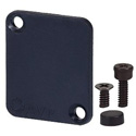 AVP UMCP Maxxum Blank Cover Plate Black covers one position Adapter Plate(s) and/or Hardware MIS Color-Code