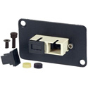 AVP UMF-MMD-SC-BG Maxxum SC Multimode Duplex Fiber Optic Dual D Panel Mount Feedthru Beige Adapter Plate(s)