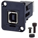 AVP UMSB-B Maxxum USB 2 Type B to B Feedthru F-F black Chassis Adapter Plate(s) and/or Hardware - MIS Color-Code