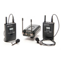 Azden 330LT Dual Lavalier Camera Mount Wireless Microphone System