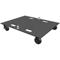 Global Truss BASE PLATE 24X30WC 24x30 Inch Steel Base Plate with Casters - works with F34 & DT44P Square Truss