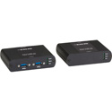 Black Box IC502A-R2 USB 3.0 Fiber Extender 2 Channel LC Multimode 330 Ft Max Distance