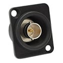 Canare BCJ-JRUDK 12G-SDI 75 Ohm Female to Female Barrel BNC Connector - Flush-Mount Neutrik D Panel Receptacle - Black