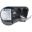 Brady MC-500-422 M Series B422 Black on White Label Maker Cartridge - 0.50 Inch x 25 Foot Roll