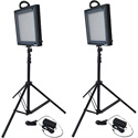 Bescor FP-500K Field Pro Series Bi-Color LED 2-Light Kit